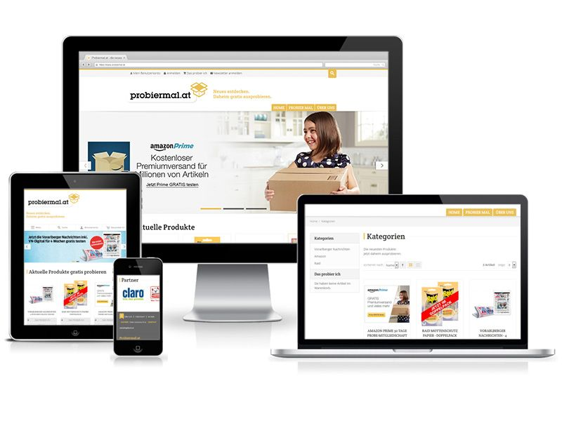 Responsive Relaunch für die E-Commerce Plattform Probiermal.at