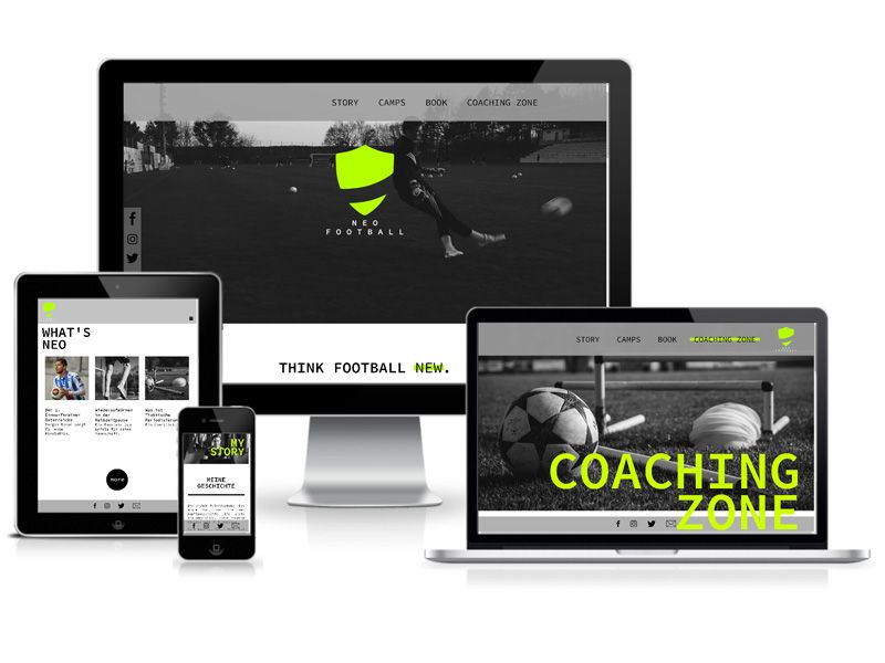 TYPO3 Website für NEO Football