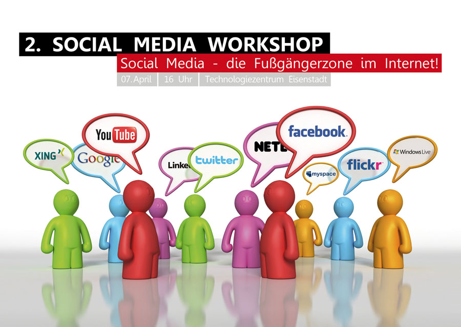 Einladung: Social Media Workshop 2011 (Vorderseite)